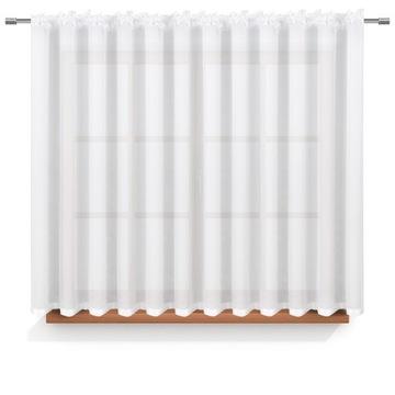 Firana so 100x150 páskou Woal White Curtain Tape