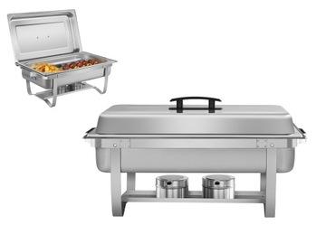 Stolový ohrievač pre riady z nehrdzavejúcej ocele