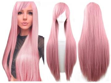 Dlhá parochňa pink rany rovno vlasy cosplay