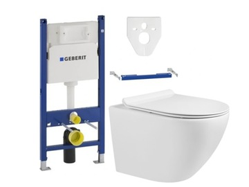 Geberit Basic Flear WC + Mexen Lena Rimless Board