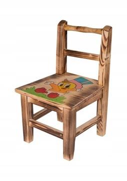 Stolička DREVENÁ stolička s operadlom