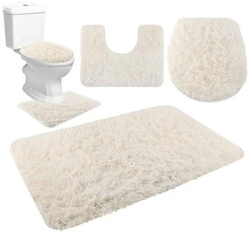 Sada 3 kusov mäkkých kúpeľňových kobercov