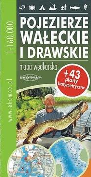 Rybárska mapa Lake District Wałecie and Recressskie