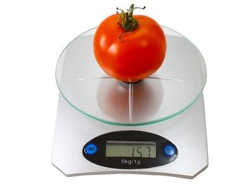 Kuchynská váha LCD elektronické sklo 5kg - 1g