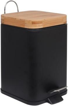 Štvorcový odpadkový kôš Bambusový kontajner
