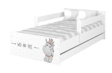 Detská posteľ MAX 200x90 + matrac + zásuvka