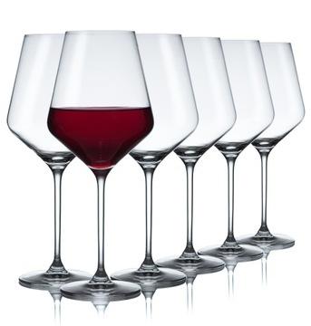 Červené poháre na víno Avantgardné Bomba