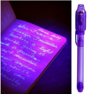 Marker UV magic neviditeľné pero so žiarovkou