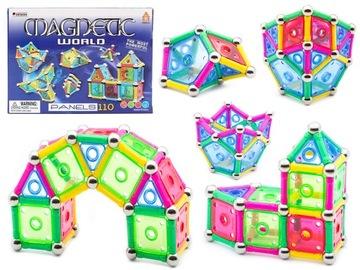 Magnetické bloky PANELY 110 MAGNETIC WORLD