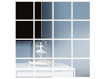 Nástenné nálepky zrkadlo štvorcové námestie 15cm