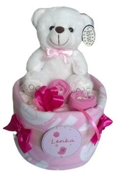 Krstová narodeninová torta s darčekom Pampers plienky