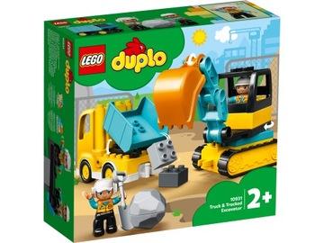 LEGO DUPLO 10931 Nákladné a pásové rýpadlo