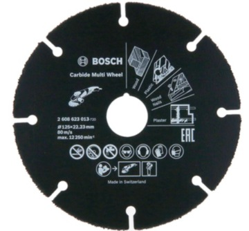 BOSCH CUTTING DISC Carbide Multi Wheel 125mm