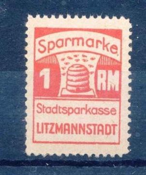 1941 Litzmastadt / Łódżż, fiškálny poplatok, Sparmark.