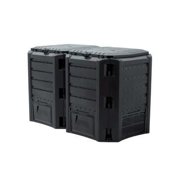 Modulárny kompozitný mrazovitý odolný 800 l čierny