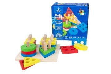 DREVENÉ TVARY triedička hračkárskych blokov puzzle