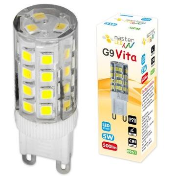 G9 SMD 2835 5W 230V 500lm LED žiarovka na lustre