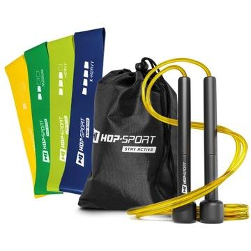 Fitness set. Preskočiť lano + rezistentné pásky