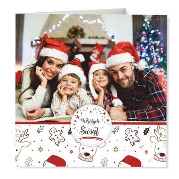 Vianočná fotografická pohľadnica s vašou fotografiou + obálkou