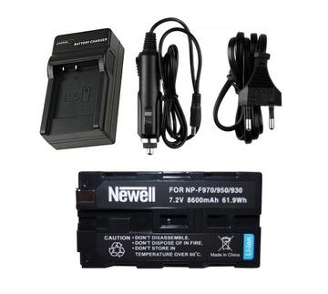 Nabíjačka + nabíjateľná batéria pre Sony NP-F970 F960