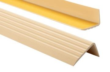 Protišmykový schodiskový profil 41x25 1,30m krémový