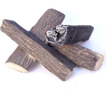 Dekoračné keramické tyčinky jedle pre plynový krb
