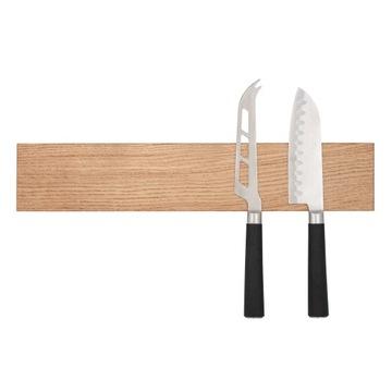 Drevená, dubová magnetická lišta na nože