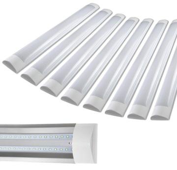 8x LED svietidlo na povrchovú montáž, 120 cm, 36 W panelová lampa