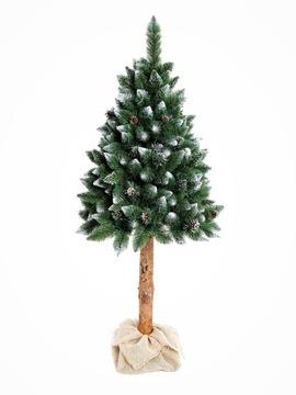DIAMANTOVÁ BOROVKA NA TRUBIČKE Umelý vianočný stromček KUŽELY