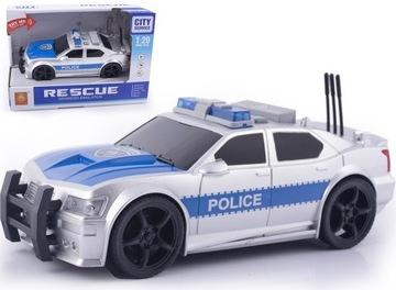 Policajné auto Policajné auto riadi svetlo LED zvuk