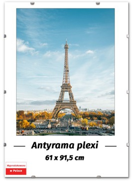 PLEXI ANTIRAMA 61x91,5 91,5x61 cm PLAGÁTOVÝ RÁM