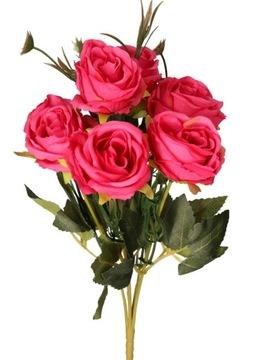 RUŽE RUŽE KYTICE UMELÉ KVETY 31 CM 6 ODVETVIA