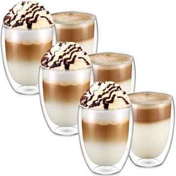 Termálne okuliare 350ml pre kávu Latte Set 6ks