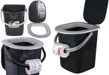 Toaletný prenosný turistický vedro vedra WC 22L