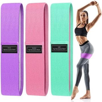 Sada 3 pásma rezistentných materiálov pre cvičenie