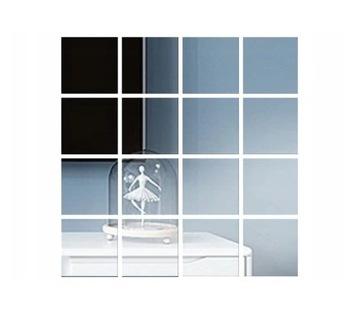 Zrkadlový zrkadlový nálepka pre stenu 15 cm