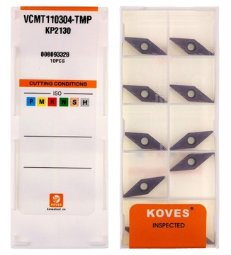 Karbidové dlaždice VCMT 110304 KOWES STAL INOX