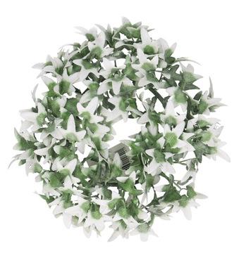 Venca ozdobený Ivy zelená biela 20cm