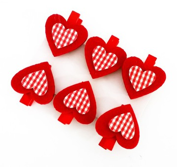 Drevený srdcový klip papier svorky 3cm