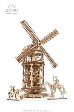 Mechanický model veternej veže pre podanie