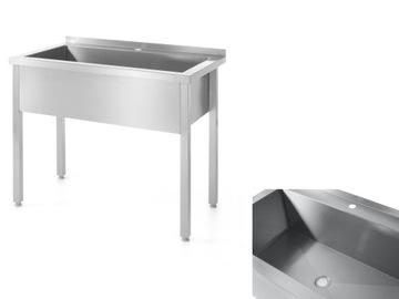 1-komorný umývadlo s retáciou ocele. Hendi