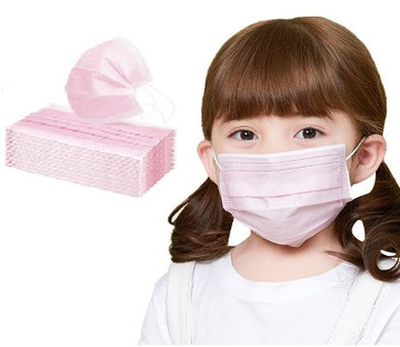 Jednorazové ochranné masky. Ružové deti 50 ks