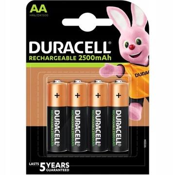 4x Duracell R6 AA 2500MAH nabíjateľné batérie
