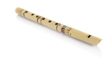 Indická rovná flauta 7 tónov etnický nástroj