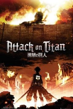 Titanove útok. Útok na Titan Key Art - plagát