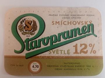 Označenie piva Smichovsky Staropramen