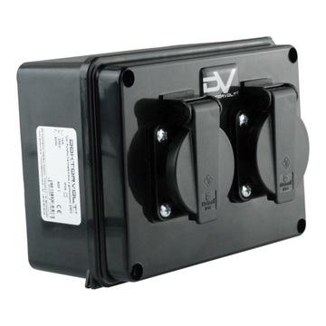 Hermetická skrinka s 230V zásuvkami IP54 9573