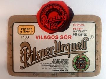 Pivo Label Pilsner Urquell Plzensky Prazdroj