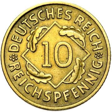 + WEIMAR - 10 REICHSPFENNIG 1930 A - nápis