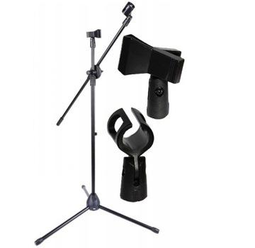 Statívový mikrofón stojan na rukoväte mikrofónu